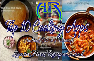 Top 10 Cooking and Recipe Apps for Android,iOS and Microsoft