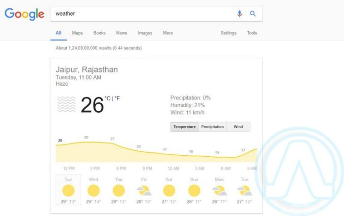 Google Weather Forecasting Apps