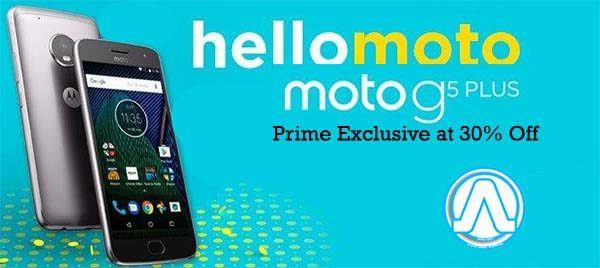 Make it fast and Buy a Motorola Moto G5 Plus Prime Exclusive at 30% Off
