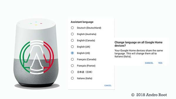 launch of Google Home in Italy italian language