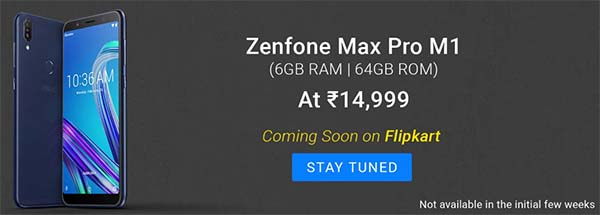 Asus ZenFone Max Pro M1 Specifications launched in India