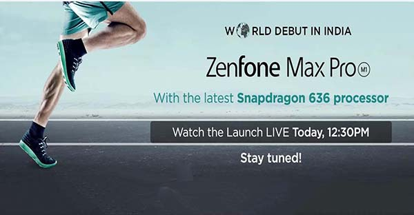Launch of Asus ZenFone Max Pro (M1) in india, Today
