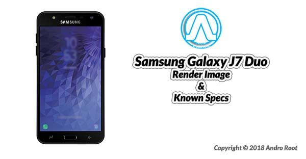 Samsung Galaxy J7Duo specification Render Image