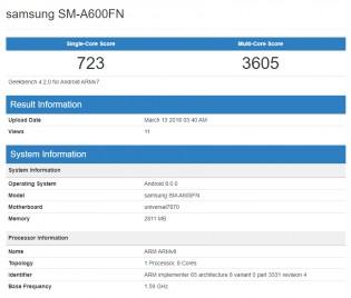 Samsung SM-A600FN Samsung Galaxy A6 Specifications