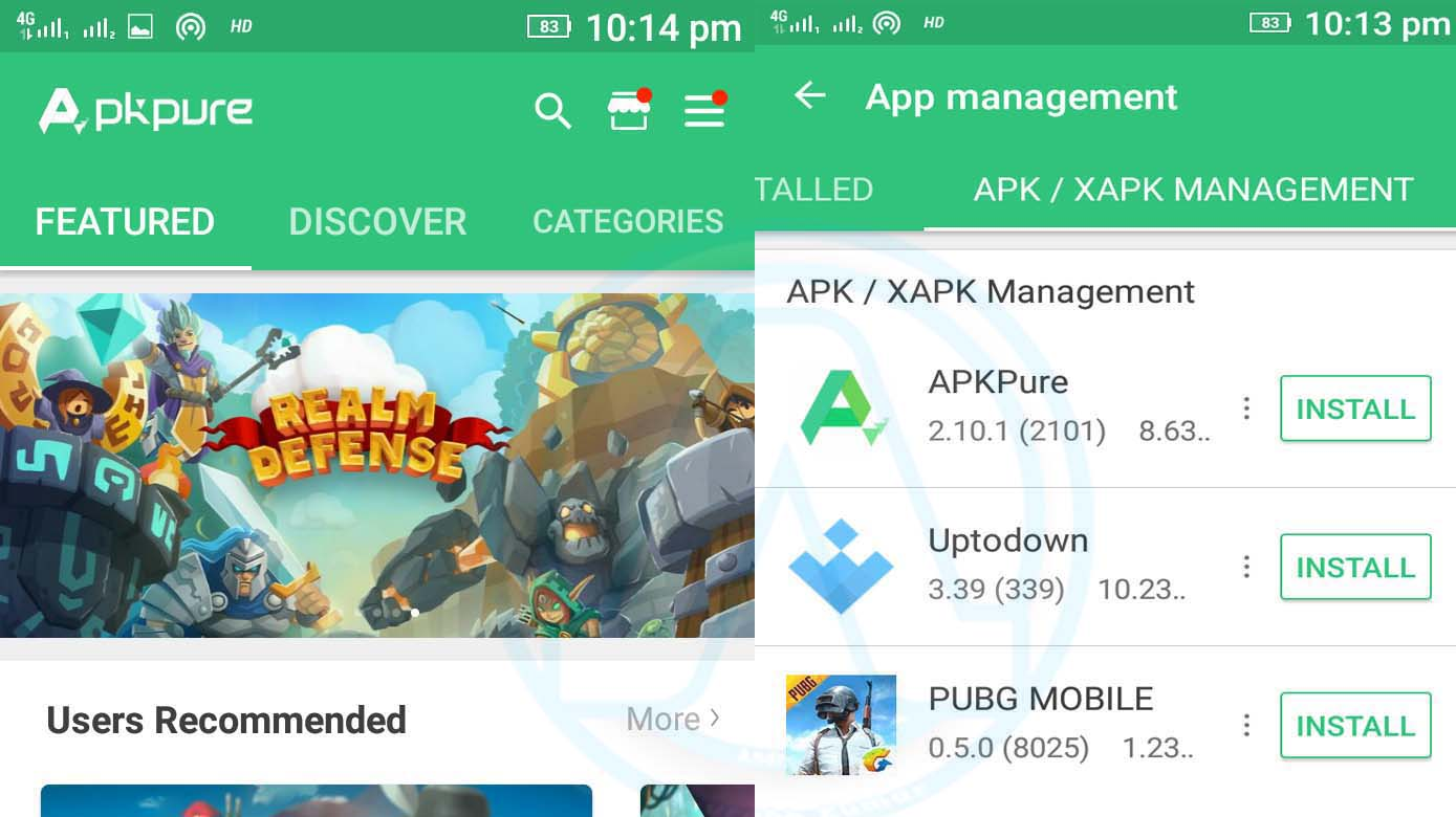 Install XAPK Without PC using APKPure APP