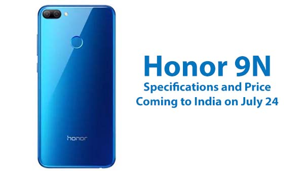 Honor 9N Specifications and Price in India
