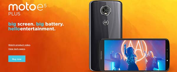 Moto E5 Plus Specification, Price in India: Coming Soon