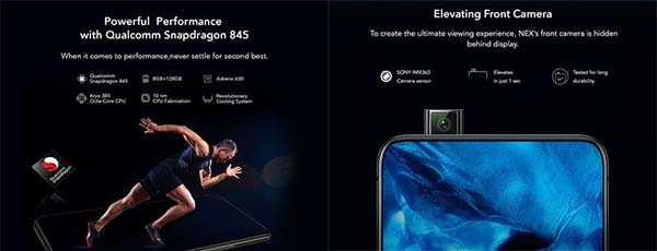 Vivo Nex Price in India Specifications
