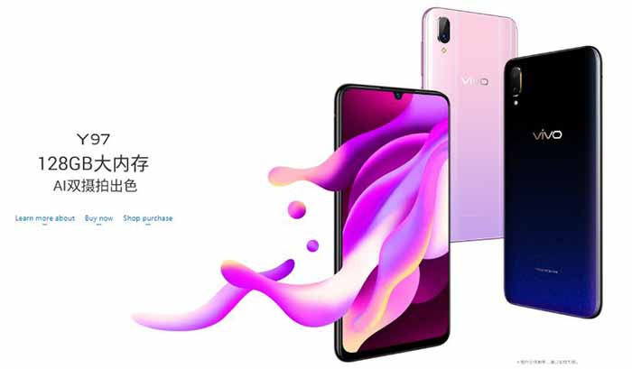 Vivo Y97 Specifications & Price, Goes official with Jovi AI